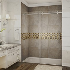 """60"""" x 75"""" - Shown with Chrome Finish Hardware"""