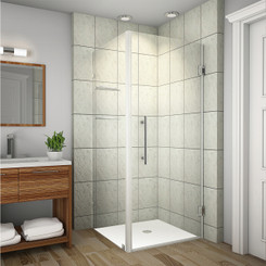 Shown with Chrome Hardware Finish; Clear Glass