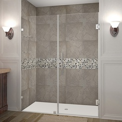 Shown with Stainless Steel Finish Hardware; Clear Glass