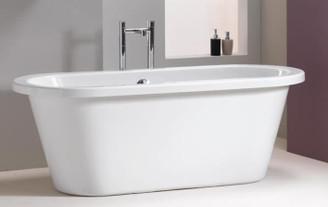 "BT691 66"" x 32"" Modern Oval Acrylic Freestanding Tub"