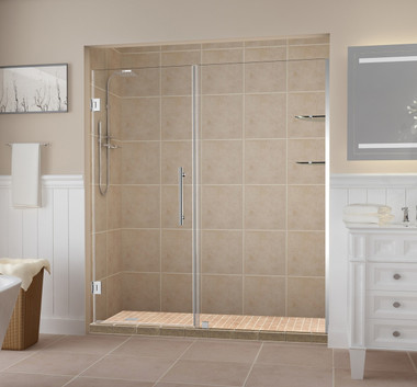 Clear Glass with Chrome Finish