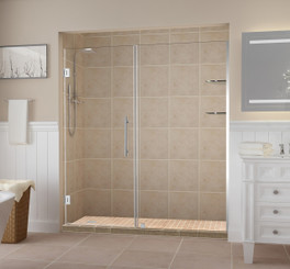 Clear Glass with Chrome Finish & Aston Frameless Shower Doors u0026 Enclosures