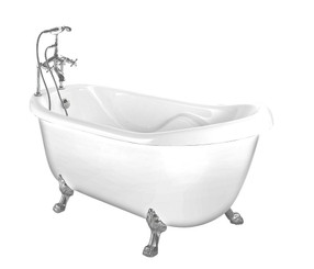 "BT686-II 67"" x 35"" Acrylic Clawfoot Slipper Tub"