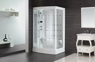 "ZA219 85"" Steam Shower with 24 Body Jets"