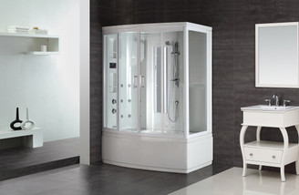 ZAA208 Steam Shower Whirlpool Bath with 9 Body Jets