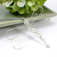 Wire dragonfly hairpin sterling silver