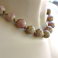 Cocoa & rose necklace 19 inches