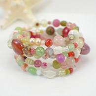 Tropics memory wire wide bracelet