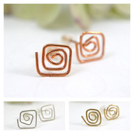 Spiral post earrings