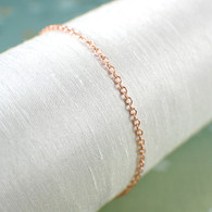 Copper chain bracelet or anklet 1.7mm thin