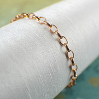 Wide copper chain bracelet or anklet 3.8mm