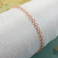Medium copper chain bracelet or anklet 2.3mm
