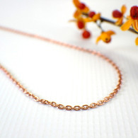 Medium copper oval cable necklace chain 2.3mm