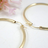 14k gold filled hollow hoop earrings 50mm large