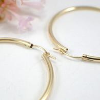 14k gold filled hollow hoop earrings 50mm large