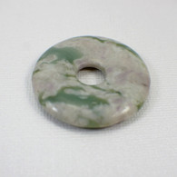 Peace jade 40mm gemstone donut