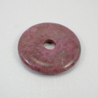 Rose rhodonite 40mm gemstone donut