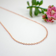 Thin copper oval cable necklace chain 1.7mm
