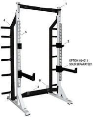 York Barbell Self Standing Half Rack System & Flat To incline Bench