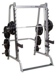 Body Solid Series 7 Smith Machine w/Flat Incline Decline Bench & 150# Weight Plates