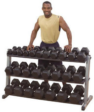 Body Solid Rubber Coated Hex Dumbbell Set 5-100 Lbs