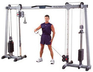 Body Solid Cable Crossover w/Flat to Incline Bench & Medicine Ball Package