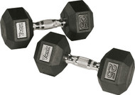 York Rubber Hex Dumbbells 5# - 75# set