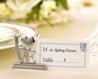 Wedding Gifts  - Kate Aspen LOVE Place Card Holder and Photo Holder with Matching Place Cards
