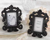 Wedding Favor Ideas - Kate Aspen Black Baroque Elegant Place Card Holder and Photo Frame