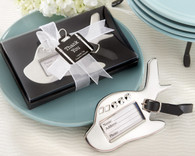 Wedding Party Favors - Kate Aspen Airplane Luggage Tag in Gift Box with suitcase tag