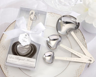 Bridal Shower Favors and Wedding Favors Canada - Kate Aspen Simply Elegant Love Beyond Measure Heart-Shaped Stainless-Steel Measuring Spoons