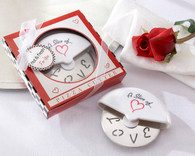 Unique Wedding Favors - Kate Aspen A Slice of Love Stainless-Steel Pizza Cutter in Miniature Pizza Box