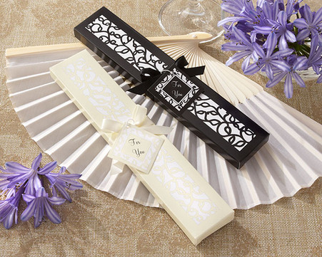 Wedding Favors - Kate Aspen Luxurious Silk Fan in Elegant Gift Box