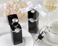 Wedding Favors Canada - Kate Aspen With This Ring Chrome Diamond-Ring Bottle Stopper