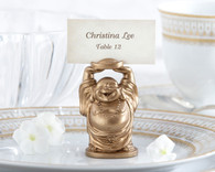 Unique Wedding Favors - Kate Aspen Laughing Buddha Place Card Holder. Place Card Holders to make your wedding day special.