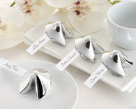 Unique Wedding Favors - Kate Aspen Good Fortune Fortune Cookie Place Card Holder. Place Card Holders to make your wedding day special.