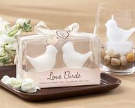Wedding Favor Ideas - Kate Aspen Love Birds White Bird Tea Candles. Candle Wedding Favors to make your wedding day special.