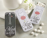 Wedding Favor Boxes - Kate Aspen Mint to Be Bride and Groom Slide Mint Tins with Heart Mints. Wedding Favor Tins to make your wedding day special.