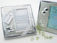 Favor Idea - Artisano Designs Bear's Best Wishes Brushed Photo Frame in Gift Box. Place Card Holders to make your day special.