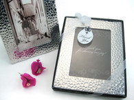 Wedding Party Favors - Artisano Designs Capture Elegance Photo Frame Favor in Brilliant Hammer Finish . Place Card Holders to make your day special.