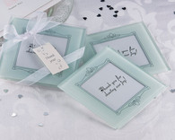 Wedding Party Favors - Artisano Designs Memories Forever Frosted Glass Photo Coaster (Set of 2). Coaster Favors to make your day special.