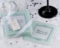 Wedding Party Favors - Artisano Designs Memories Forever Frosted Glass Photo Coaster (Set of 4). Coaster Favors to make your day special.