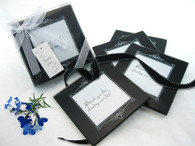 Wedding Party Favors - Artisano Designs Memories Forever Glass Photo Coasters in Black (Set of 4). Coaster Favors to make your day special.