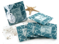 Wedding Favours - Artisano Designs Tropical Breeze Palm Tree Glass Coasters (Set of 4). Coaster Favors to make your day special.