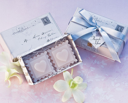 Cheap Wedding Favors - Artisano Designs Stamped with Love Scented Soaps. Scented Soaps to make your day special.