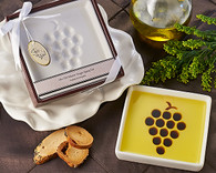 Unique Wedding Favors - Artisano Designs Vineyard Select Olive Oil and Balsamic Vinegar Dipping Plate. Candy/ Party Dish to make your day special.