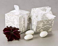 Wedding Favor Boxes - Artisano Designs Classic Damask Square Favor Box (24 Pack). Wedding Favor Boxes to make your day special.