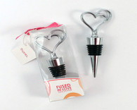 Wedding Favors - Weddingstar Fused in Love Double Heart Wine Stopper in Gift Packaging. Wine Bottle Stoppers to make your day special.