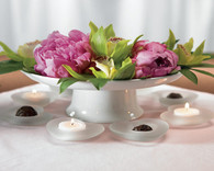 Wedding Favors Canada - Weddingstar Frosted Glass Heart Candle Holders. Candle Wedding Favors to make your day special.