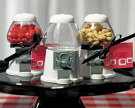 Wedding Party Favors - Weddingstar Empty Classic White Gumball Machine. Gumball Dispensers to add the perfect finishing touch to your wedding.